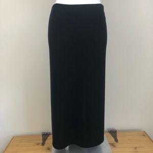 Ann Taylor long black velvet skirt, size small